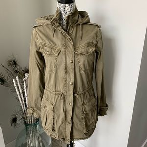 ARITZIA Talula Olive Green Utility Jacket-Size XS